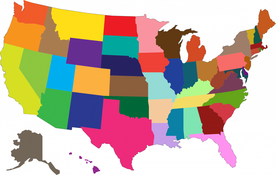 US Map : Map Clip Art Collections Clipart Maps The United States.