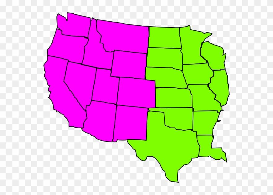 Us Map Regional Clip Art At Clker.