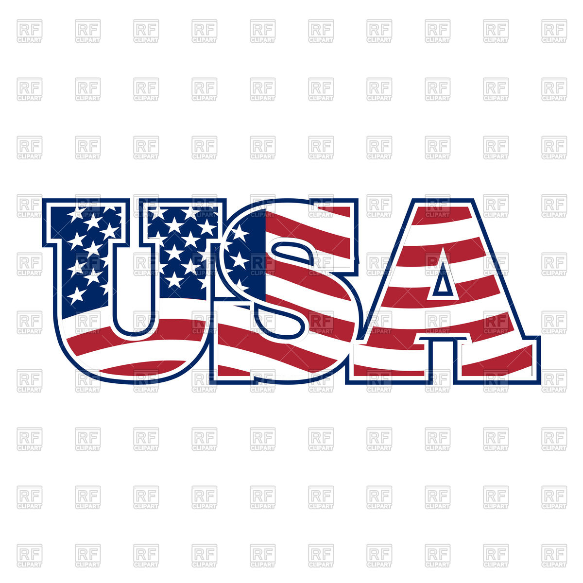 USA letters Stock Vector Image.