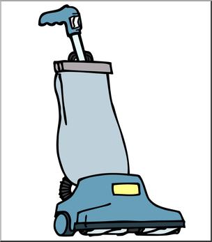 Clip Art: Vacuum Cleaner Color I abcteach.com.