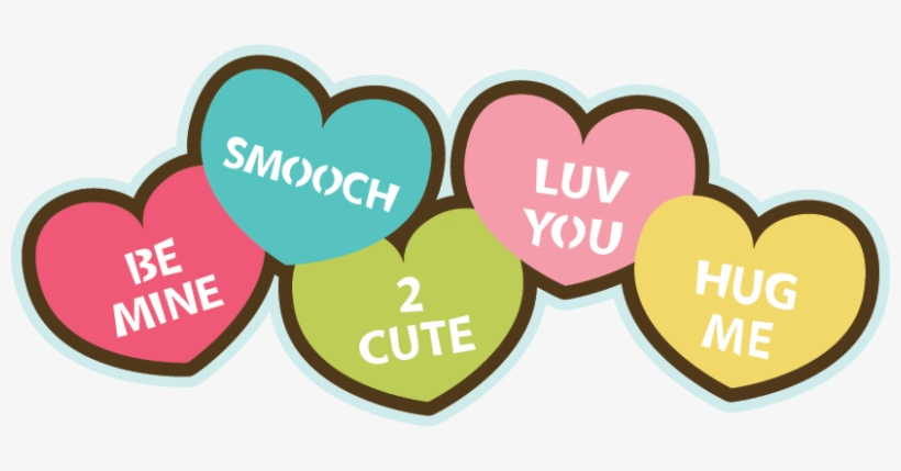 Candy Hearts Svg File For Scrapbooking Cardmaking Valentine's.
