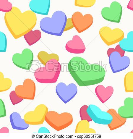 Valentine candy hearts pattern.