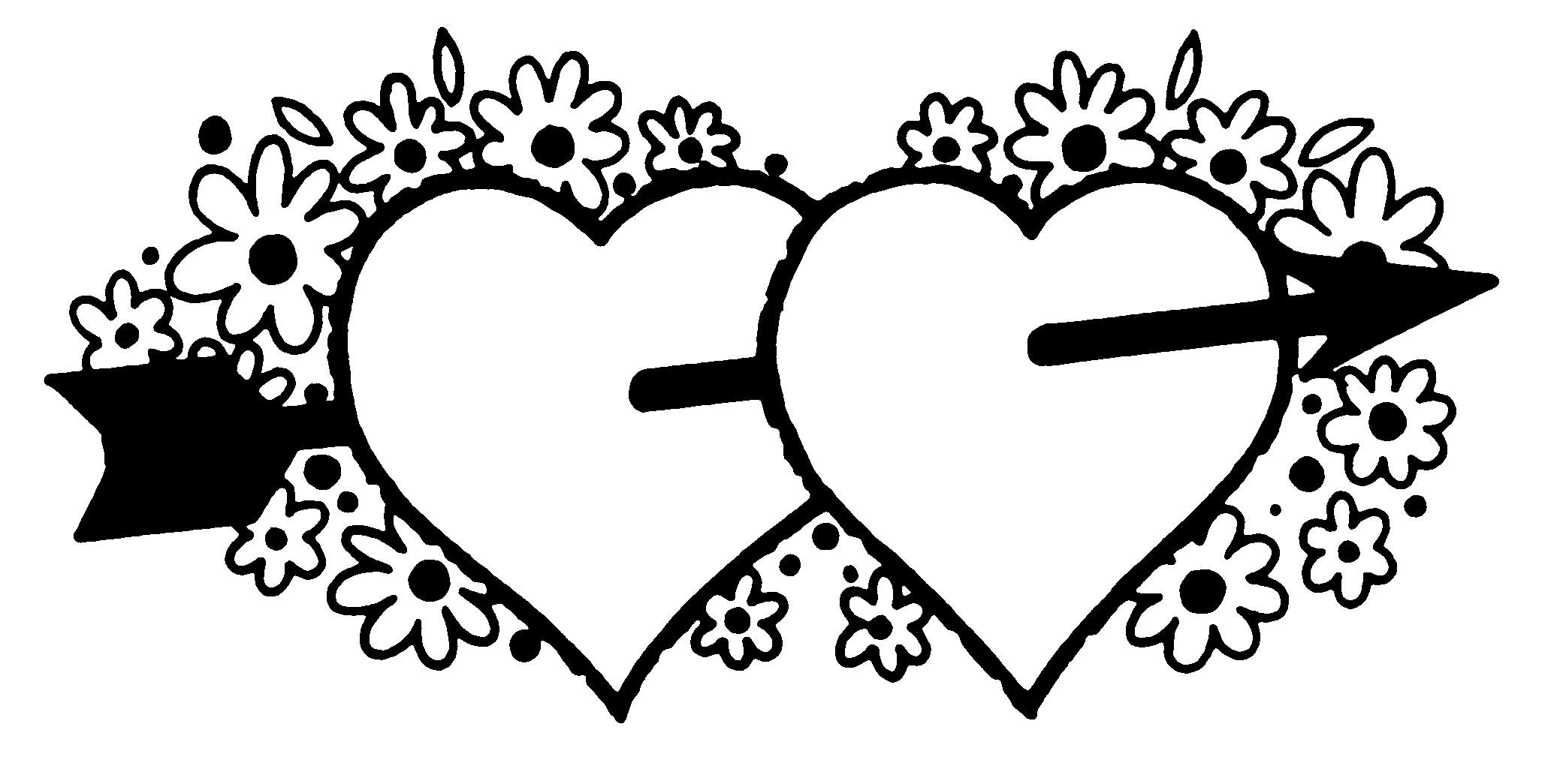 Black and white valentines day clipart 5 » Clipart Station.
