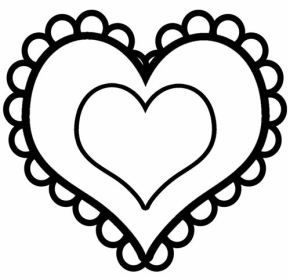 Valentines Day Clipart Black and White.