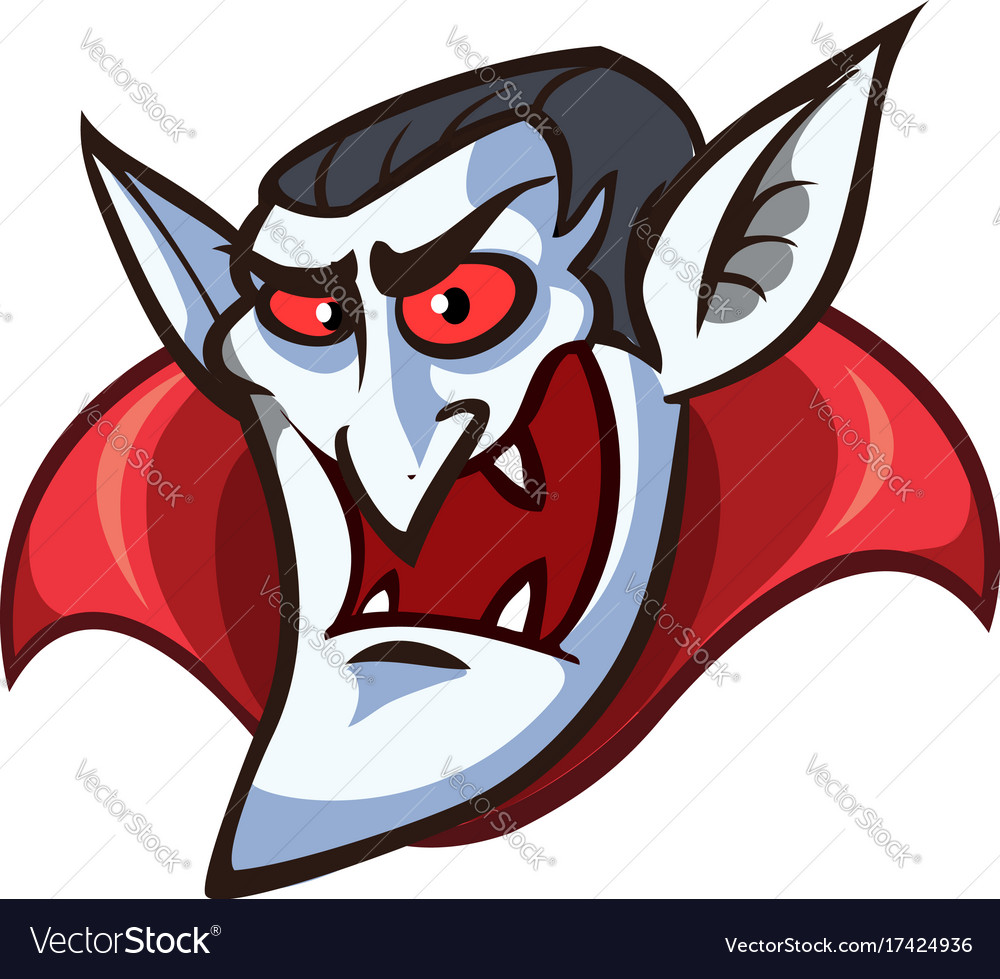 Vampire face clip art with simple gradients all.