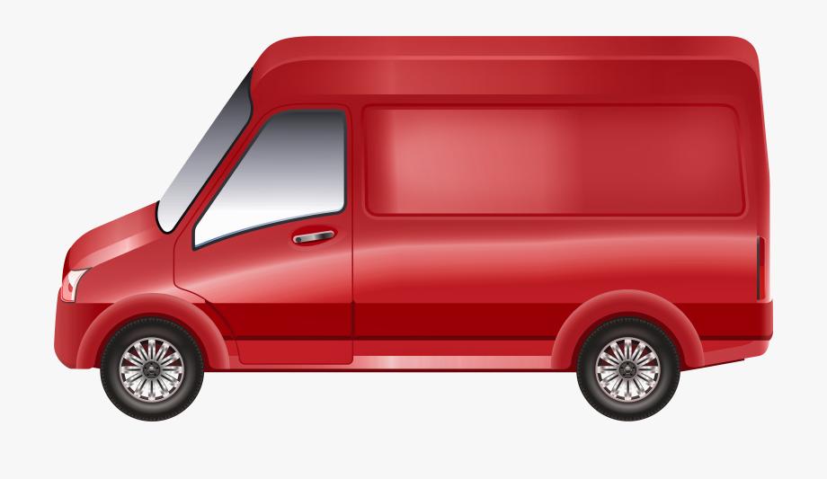 Red Van Png Clip Art.