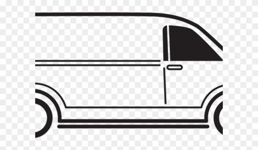 Vans Clipart Black And White.