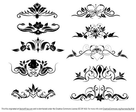 Free Ornament Vector Elements Clipart and Vector Graphics.
