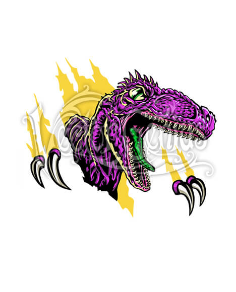 Vector Genius Dinosaur Raptor Vector Clip Art.