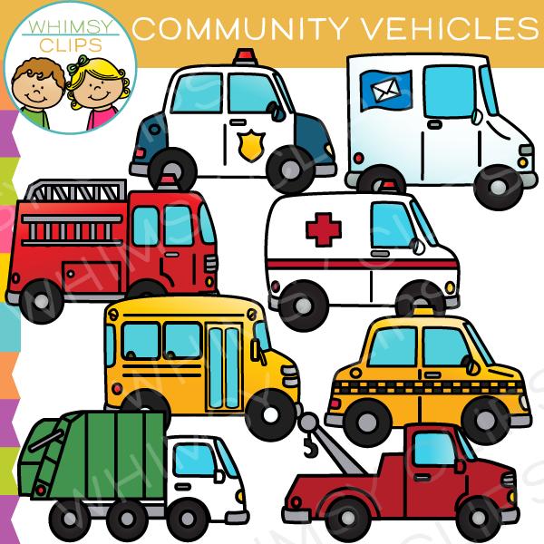 Community Vehicles Clip Art.