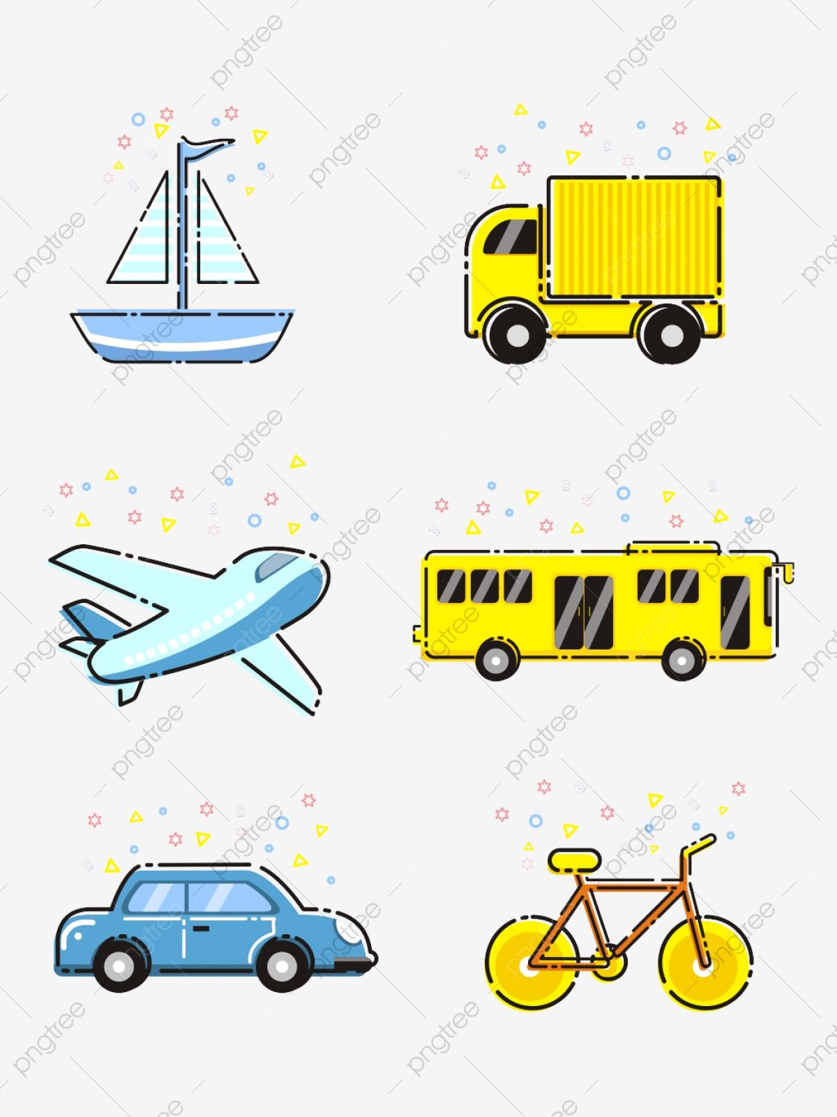 Cartoon Vehicles, Cartoon Clipart, Cartoon Airplane, Cartoon Car PNG.
