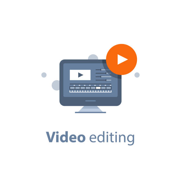 Best Video Editing Illustrations, Royalty.