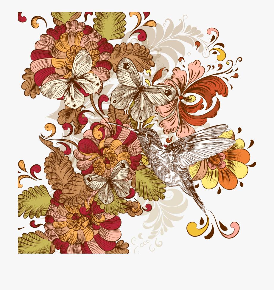 Flower Floral Design Vintage Clothing Clip Art.