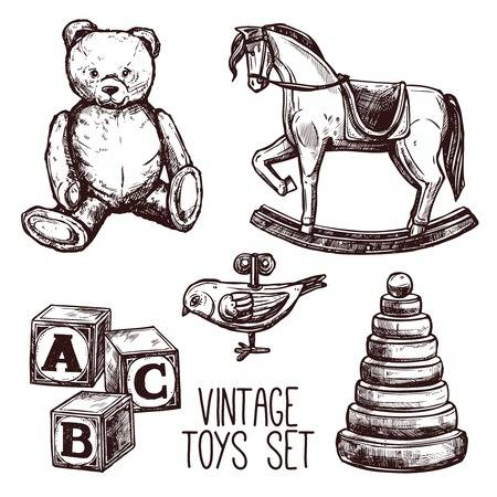 54,782 Vintage Toys Stock Vector Illustration And Royalty Free.
