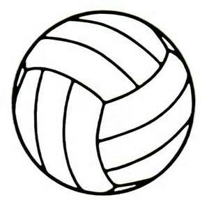 Volleyball Outline, Traceable, Drawing, Clip Art.