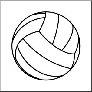 Clip Art: Volleyball 2 B&W I abcteach.com.
