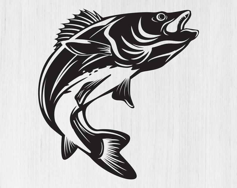 Walleye svg Walleye png Walleye fishing svg Fishing logo svg Fish svg  Fishing image Fishing for Cricut Walleye cut files Walleye silhouette.
