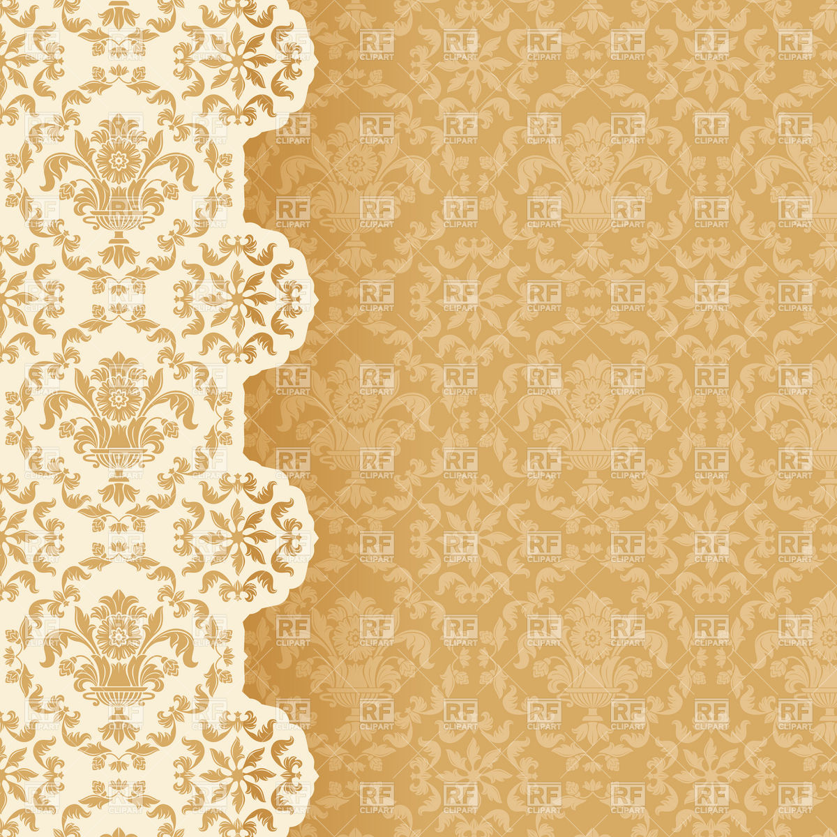 Victorian style wallpaper background Stock Vector Image.