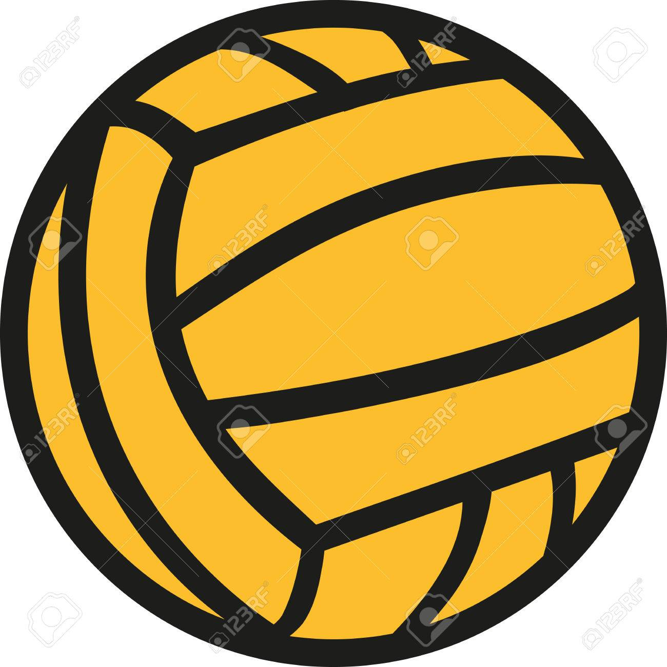 Water polo ball in two colors.