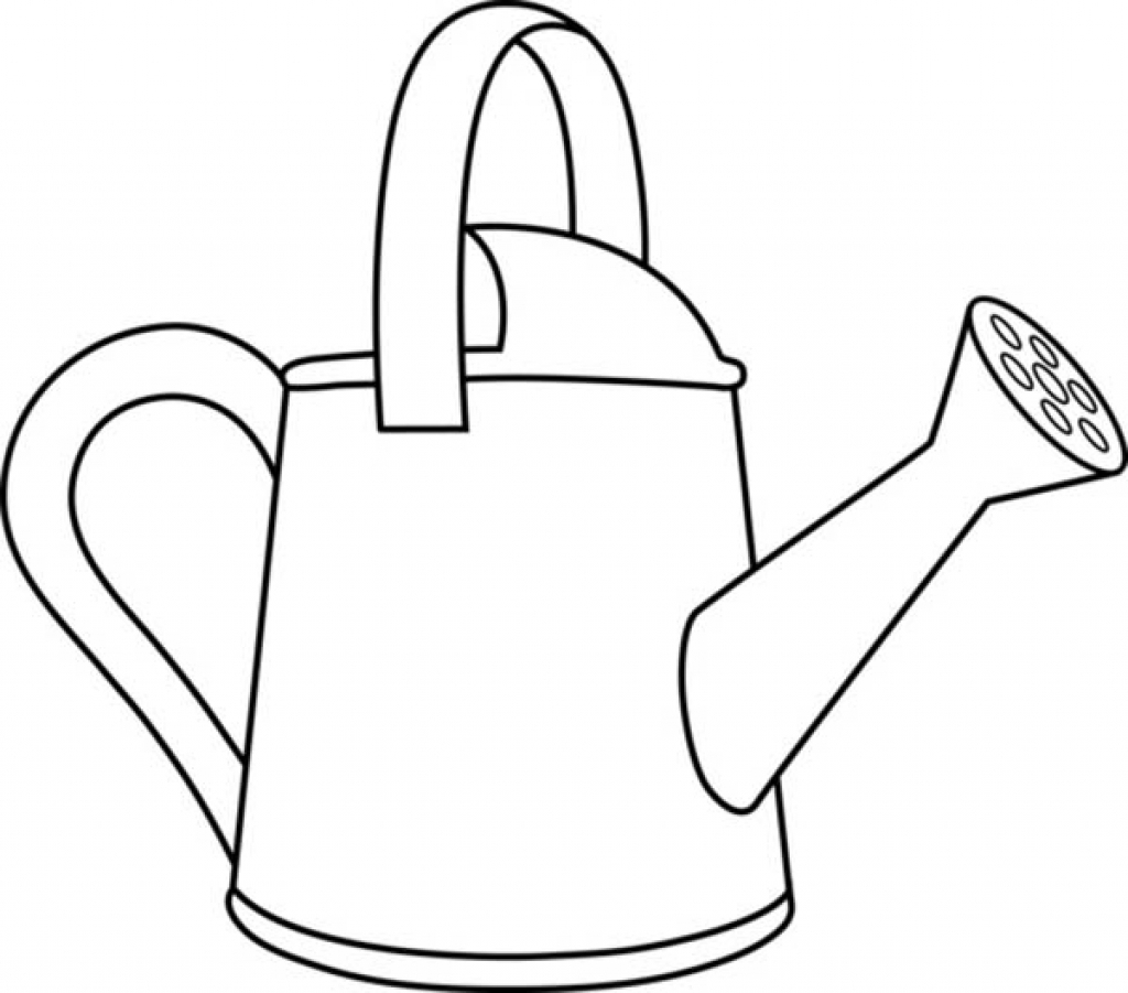 Collection of Watering can clipart.