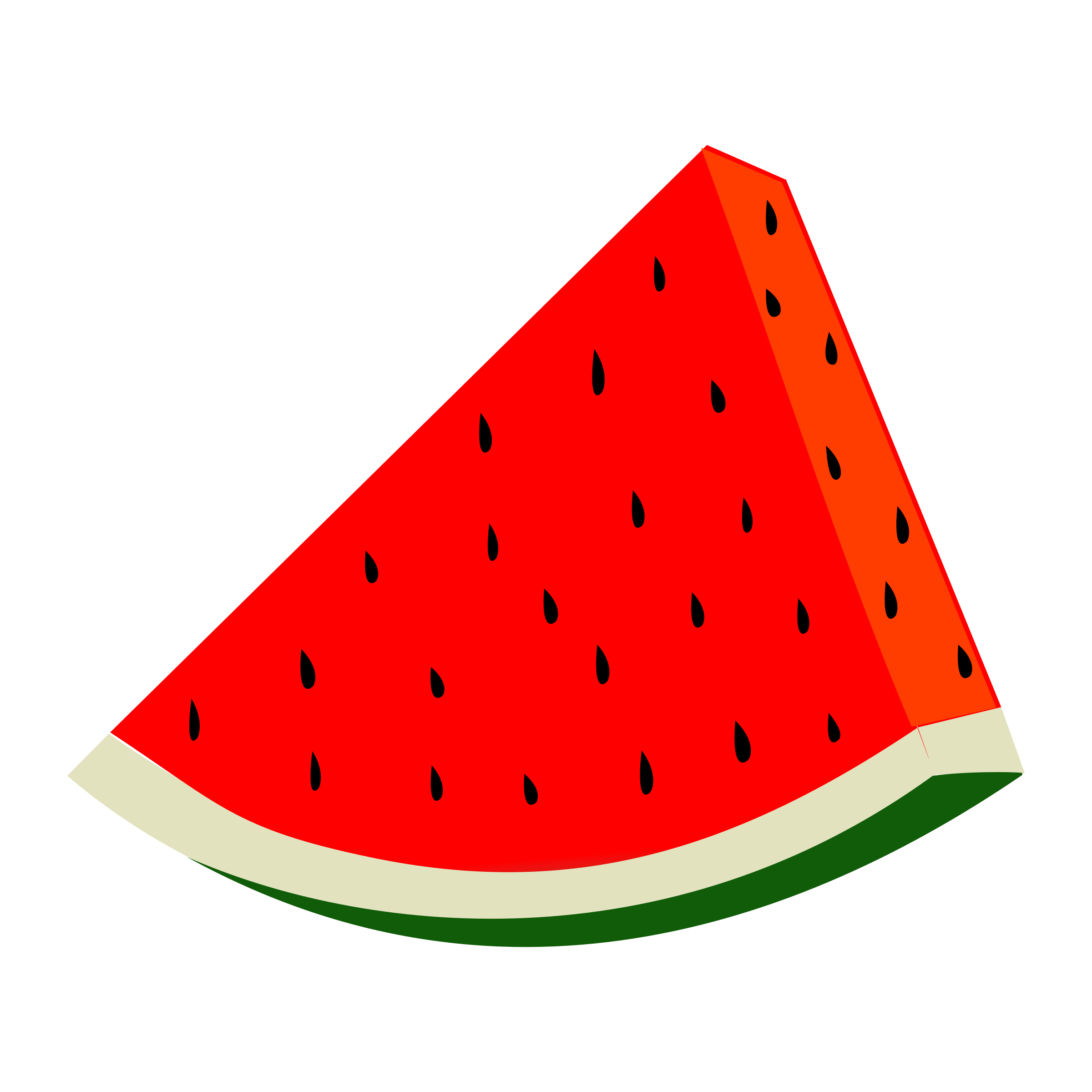 Watermelon vector clipart image.
