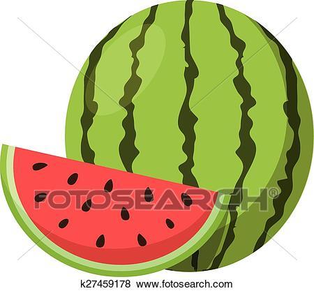 Watermelon. Clip Art.