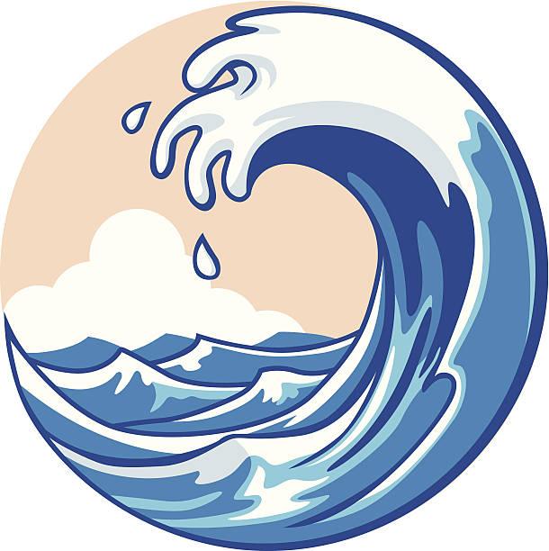 Best Tidal Wave Illustrations, Royalty.