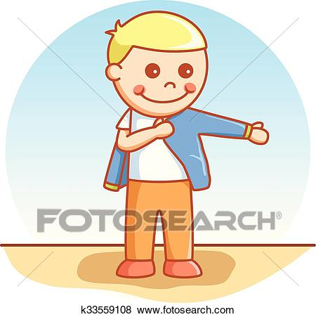 Boy wearing cloth Clip Art.
