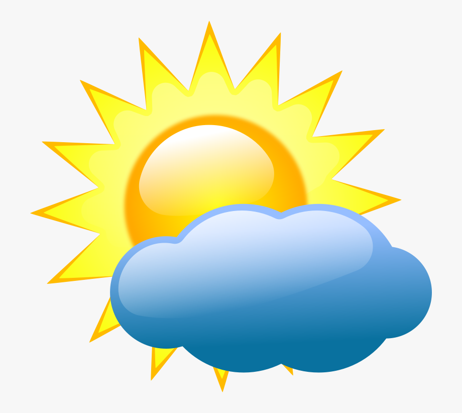 Summer Sun And Cloud Clip Art.
