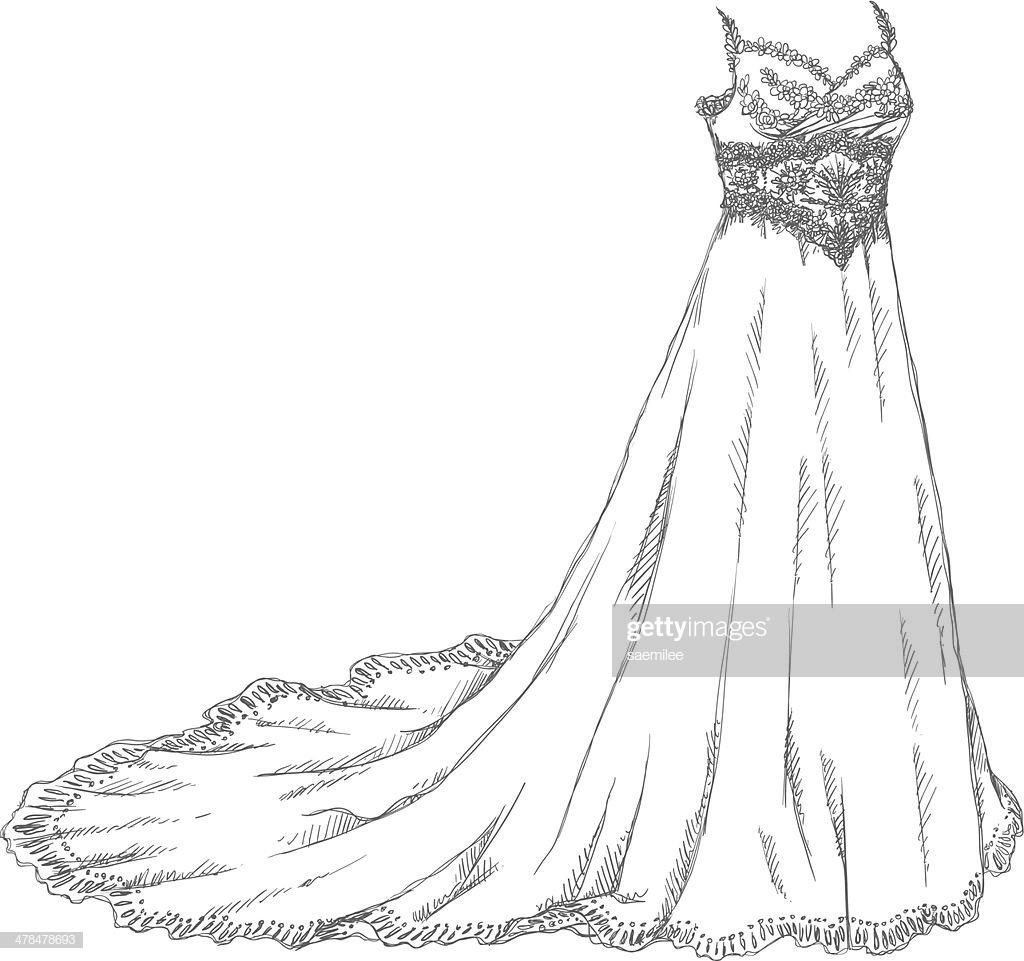 60 Top Wedding Dress Stock Illustrations, Clip art, Cartoons.