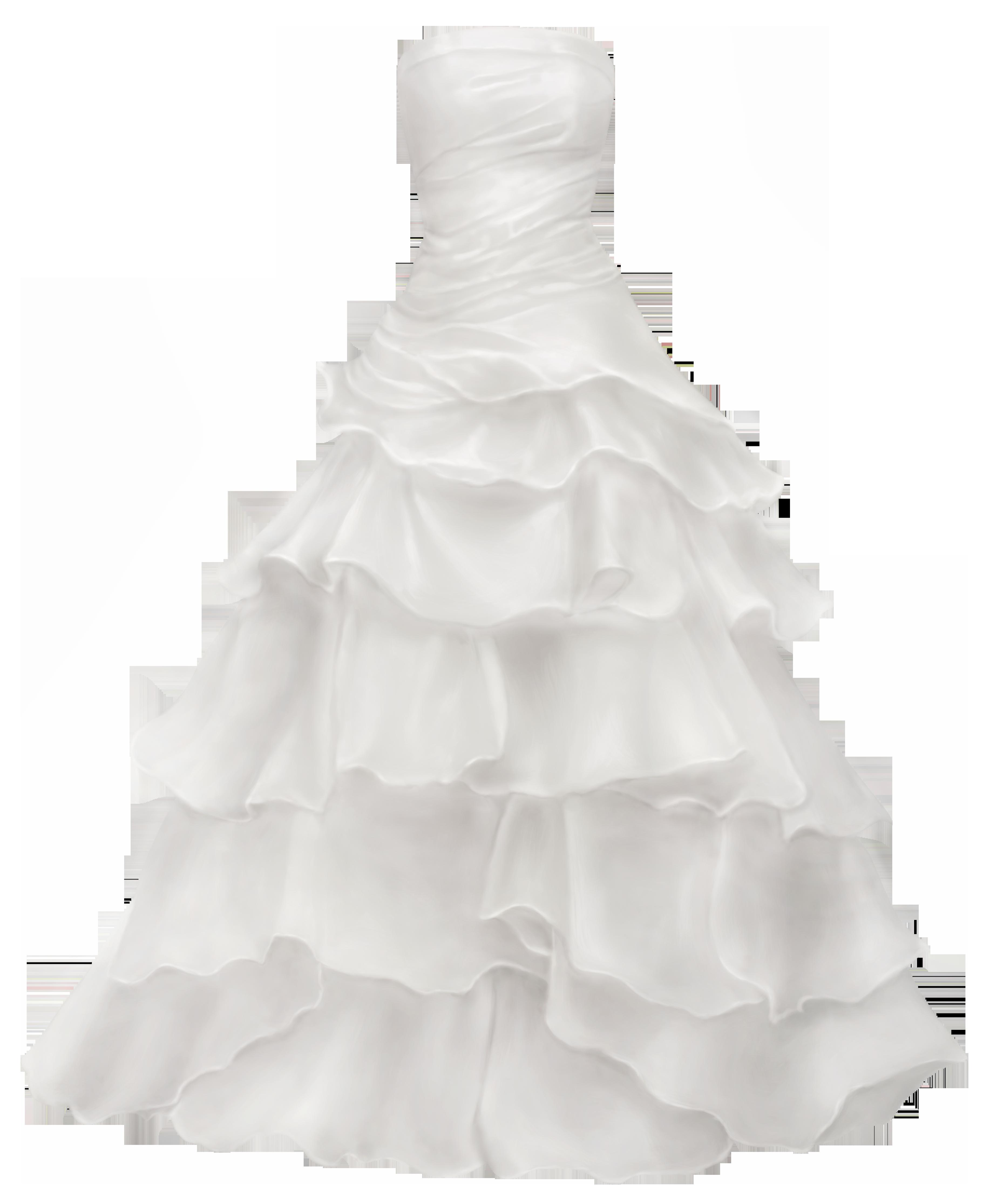 Ball Gown Wedding Dress PNG Clip Art.