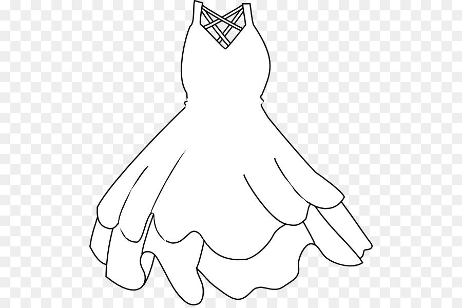 Wedding Dress White Clip Art.