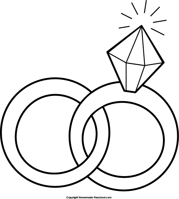 Free wedding rings clipart 2.