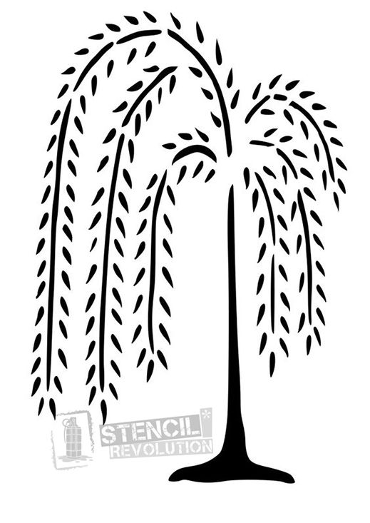 Willow Tree Stencil for Crafts & Walls.