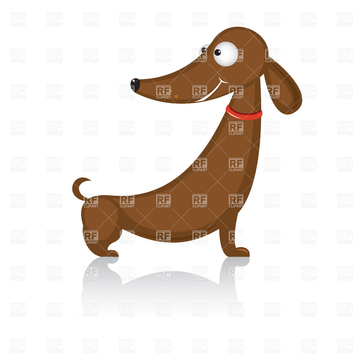 Funny cartoon dachshund dog Stock Vector Image.