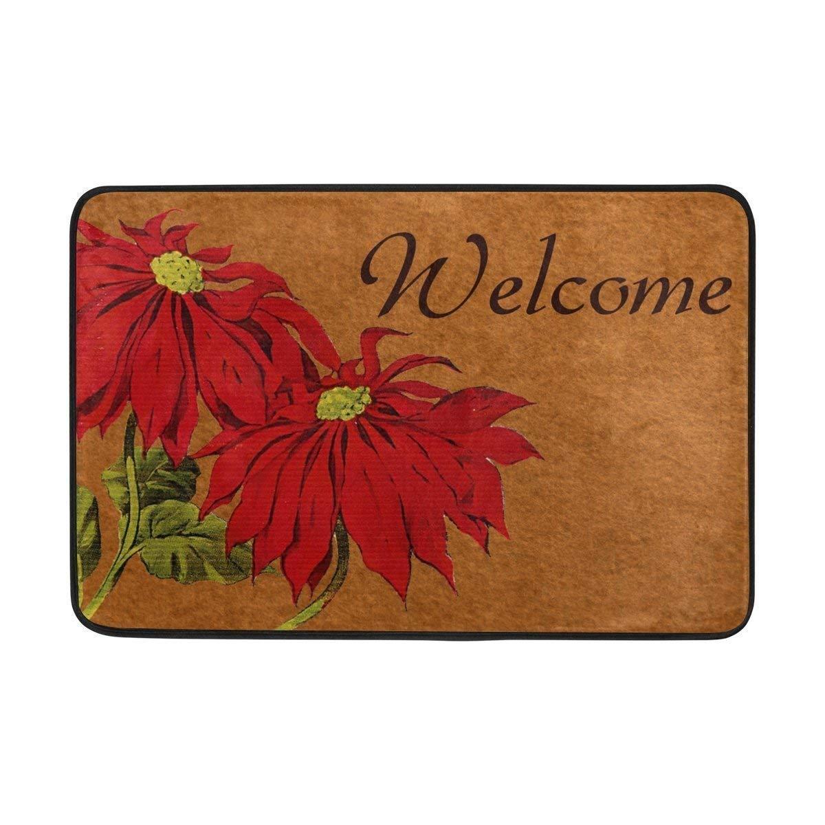 Amazon.com: Entrance Doormat Christmas Flower Clipart Welcome Door.
