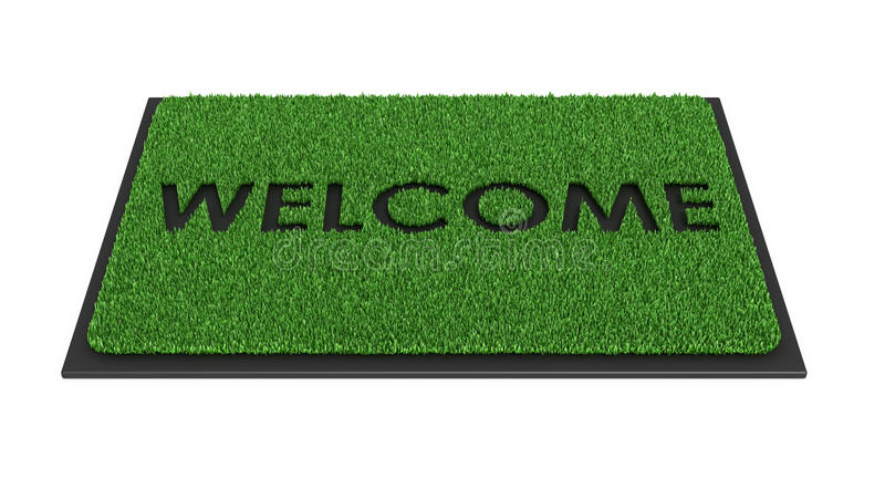 Welcome Mat Stock Illustrations.