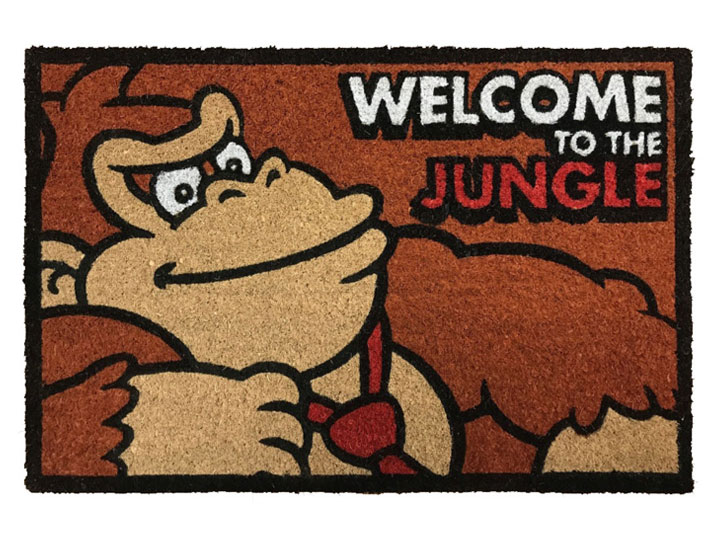 Donkey Kong Welcome to the Jungle Door Mat.