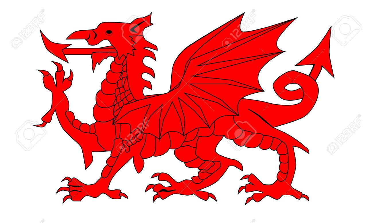 The Welsh Dragon isolayed over a white background.