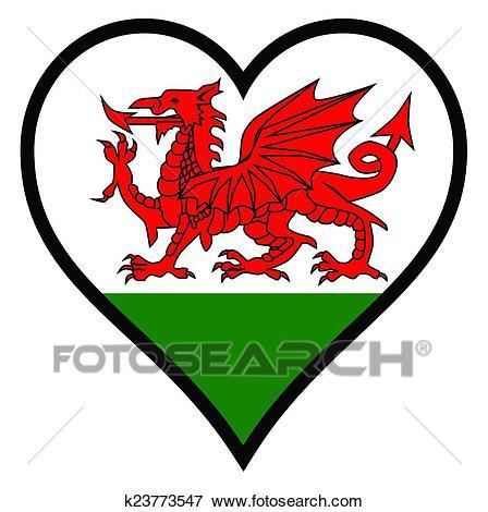 Love Wales Clip Art.