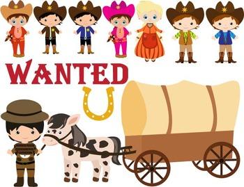 Cowboy Clip Art , western, wild west pony, Personal, school Use.
