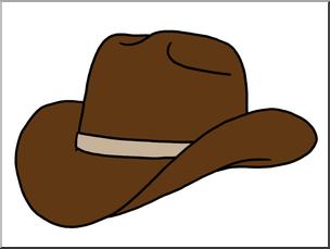 Clip Art: Western Theme: Cowboy Hat Color I abcteach.com.