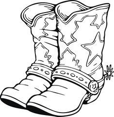 Cowboy Boots Drawing at PaintingValley.com.