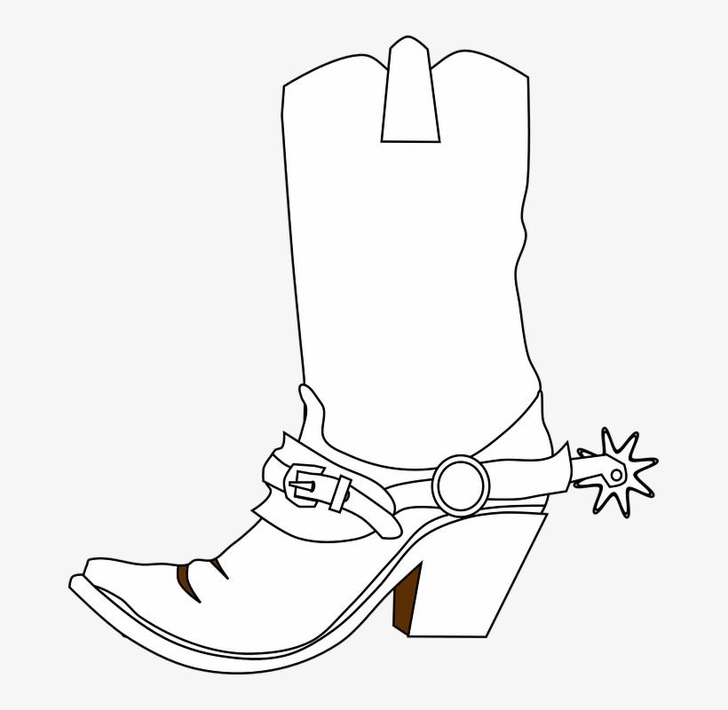 Cowboy Boots, Spurs, Boots, Western Clipart.