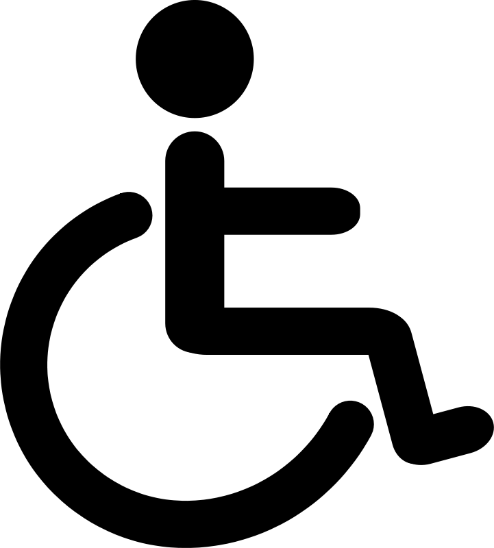Free Clipart: Wheelchair Pictogram.