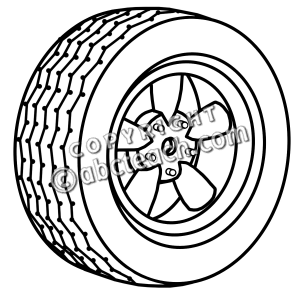 Clip Art: Wheel B&W.