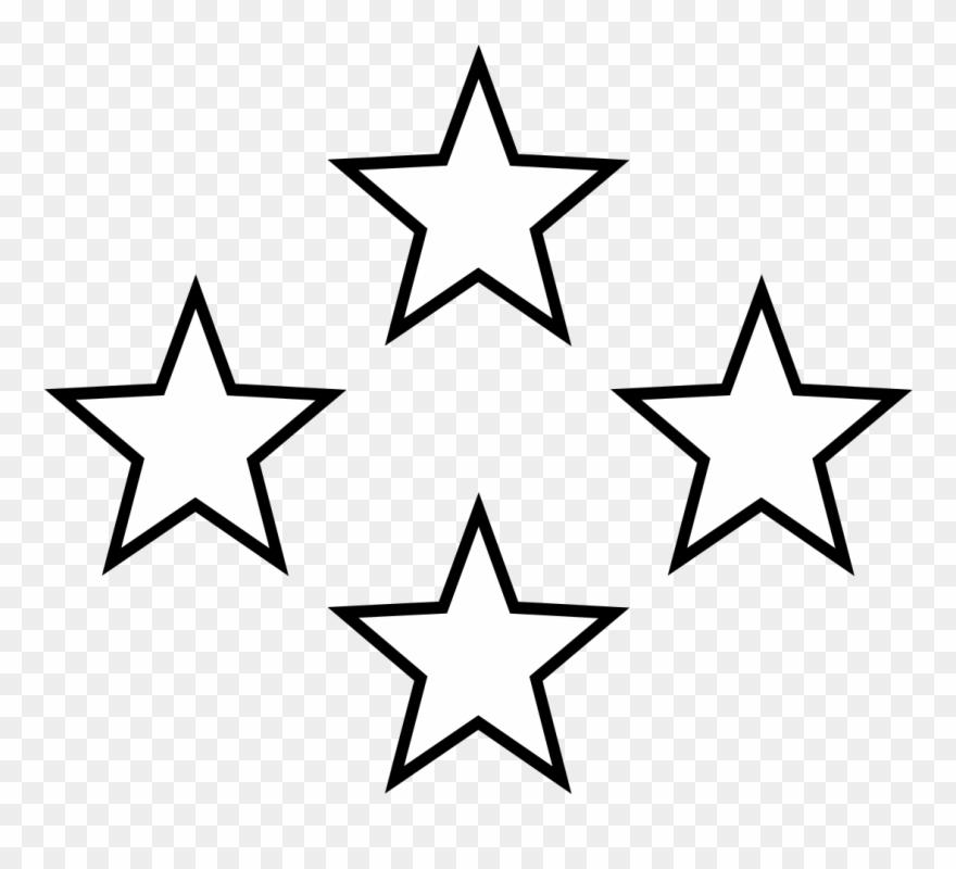 Star Black And White White Stars Free Download Clip.