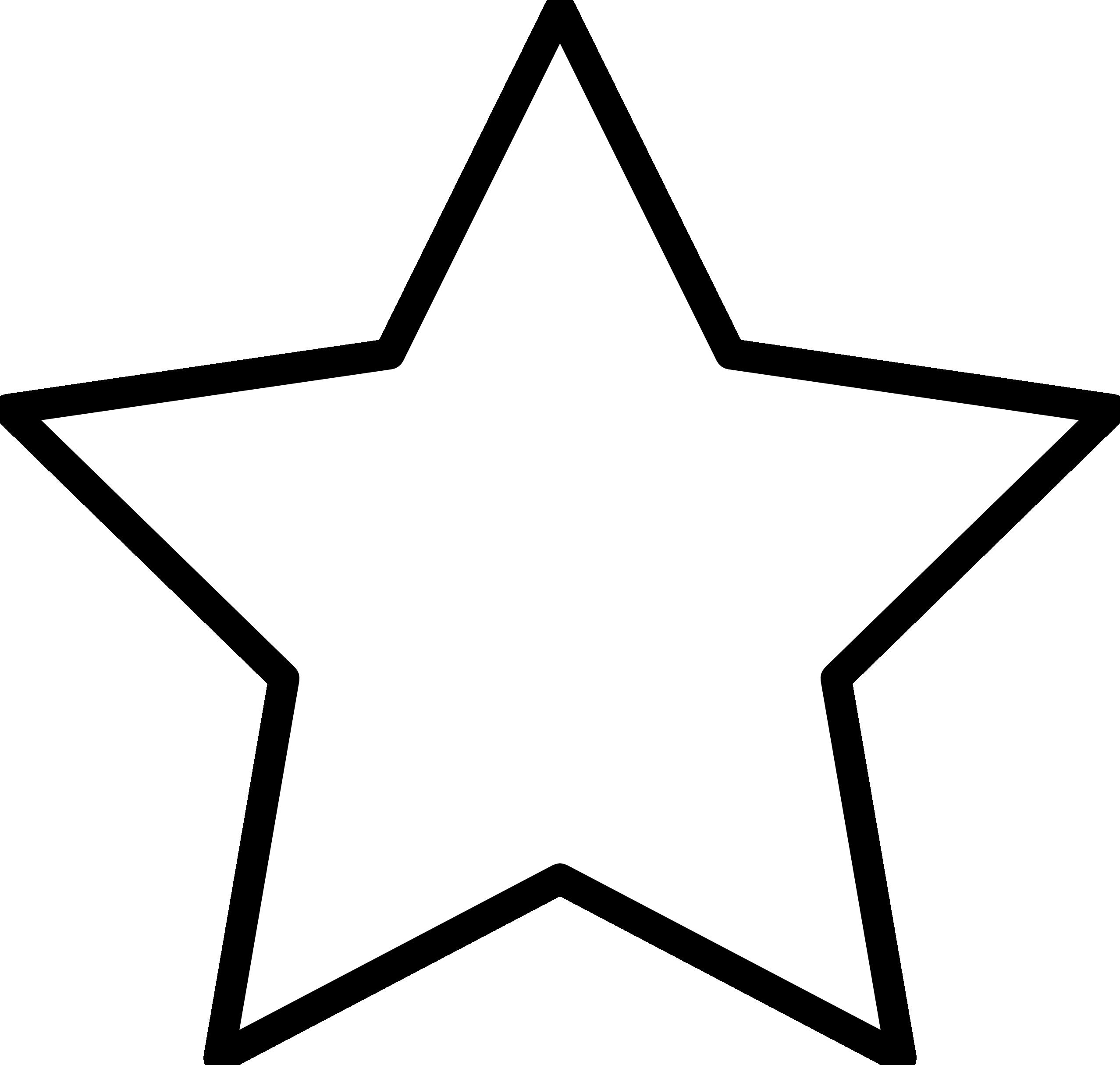 Star silhouette Outline Clip Art.