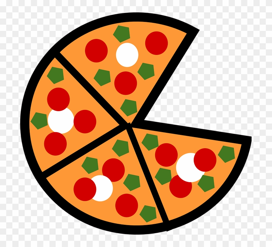 Whole Pizza Clipart Black And White Pizza Slices.