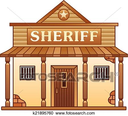 Wild West Sheriff's office building Clipart.